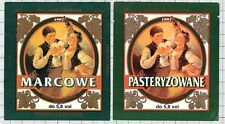 POLAND Browar Grybow MARCOWE woman beer labels C2075 036