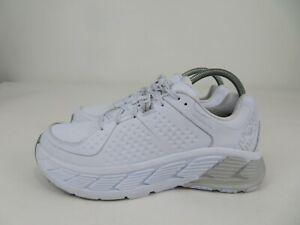Hoka One One Gaviota LTR Running Athletic Shoes White Leather Womens Size 9.5