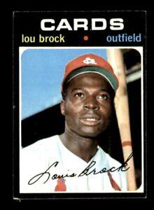 1971 Topps Set Break # 625 Lou Brock VG-EX *OBGcards*
