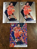 2019-20 Panini Mosaic Nickeil Alexander-Walker Rookie Lot (3) RC Blue Reactive