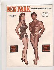 THE REG PARK JOURNAL muscle bodybuilding magazine/Vince Gironda/Miss USA 12-57