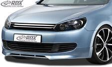 RDX Frontspoiler VW Golf 6 Front Spoiler Lippe Vorne Ansatz PUR ABS