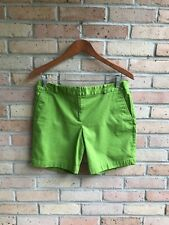 "Talbots Womens Solid Green Chino 6"" Shorts - size 6P EUC FAST SHIP"