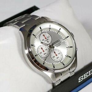 Seiko Stainless Steel Men's Quartz Neo Sports Chronograph Watch SKS535P1