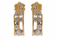 0,32 Cts Ronde Brillante Couper Diamants Clous Boucles d'oreilles En 750 18K Or