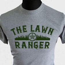 The Lawn Ranger T Shirt Gardening Lawn Cutting Fun Gift Joke Dad Grandad Grey