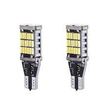 Pair 45SMD 6000k White 921 T10 T15 Car Backup Reverse LED Lights Error Free Bulb