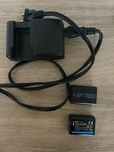 1 Charger 2 Batteries Sony NP-FW50 Lithium-Ion Rechargeable (1020mAh) #NPFW50