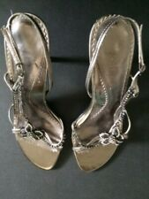 TWO LIPS Woman's 8M High Heel Strapped Shoes PEWTER W/Rhinestones Style: Gileyla