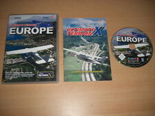 Ultimate Terrain X EUROPA PC DVD ROM add-on MICROSOFT FLIGHT SIMULATOR SIM X FSX