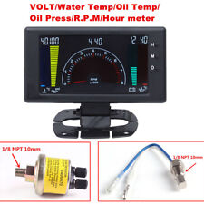 LCD Dispaly Digital 6 in1 Auto Meter LED Oil Pressure Gauge Car Instrument Set