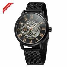 Bestn Wristwatches for Men self-Winding Allochroic Luminous Hands Skeleton Mecha