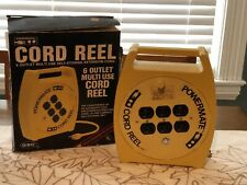 RARE GSC POWERMATE CORD REEL - 6 Outlet Multi Use Self Storing Ext Cord 21 feet