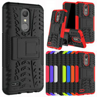 For LG Tribute Dynasty Case with Kickstand Hybrid Shockproof Rugged Armor Cover