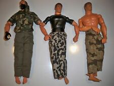 3 MILITARY ACTION FIGURES HASBRO YEAR 1996