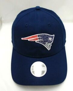 New England Patriots Women's New Era 9TWENTY Adjustable Cap Hat Rhinestone