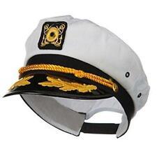 Wall2Wall Captain's Yacht Sailors Hat Snapback Adjustable Sea Cap Navy Costume