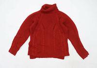 Autograph Womens Size 12 Textured Red Jumper (Regular)