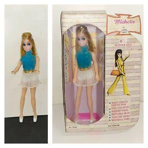 """Vintage Topper Dawn Clone Michelle Doll 6 1/2"""" AIM Boxed HONG KONG 1970's"""