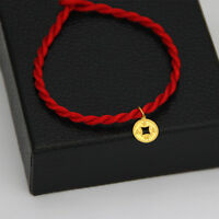 New Real 999 24K Yellow Gold / Lucky Coin Pendant(吉祥如意) /1PCS