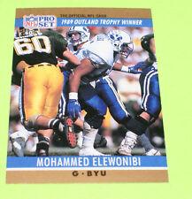 1990 NFL Pro Set Mohammed Elewonibi Card # 20 1989 Outland Trophy