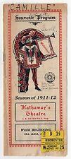 1911 HATHAWAY'S THEATRE PROGRAM New Bedford Massachusetts CAMILLE Dumas Fils