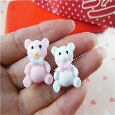 12pcs Mix Bear resin cabochon 18x22mm Cell Phone Decorations