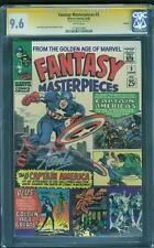 Fantasy Masterpieces Captain America 3 CGC SS 9.6 Stan Lee Signed Boston Rare 8