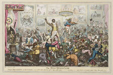 The New Union Club 1819  Slavery Era Cartoon, George Cruikshank 7x5 inches