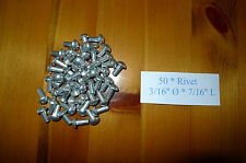 "Solid Aluminium Rivets 3/16"" Dia * 7/16"" long * 50 Land Rover Série 300783"