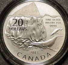 2013 $20 Dollar .9999 Fine Silver 'Iceberg' Commemmorative coin *new mint logo*