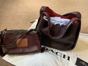 Coach Bandit Hobo 2-in-1 Bag Clutch Handbag Oxblood