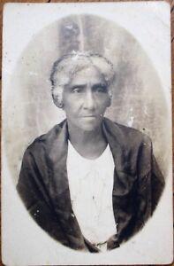 Black Old Woman 1910 AZO Realphoto Postcard - Gray Hair