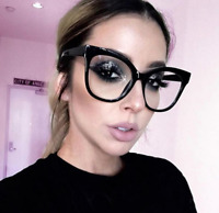 MISS GORGEOUS Women Eyeglasses CAT EYE Clear Lens Shadz  Glasses Oversized GAFAS