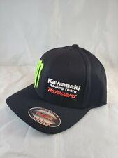 Monster Energy Drink Kawasaki team Motocard Flexfit  Hat L/XL