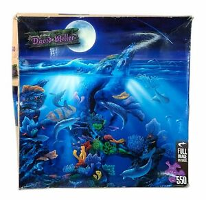 David Miller Jigsaw Puzzle: Dolphin Reef, Sea, Water, Coral, 550 Pieces, NEW