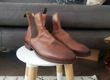 Mens DUNE BERTIE Tan Brown Leather Chelsea Boots, Size 10, NEW, RRP £130