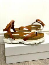 NIB Stella McCartney Runway Chunky Platform Vegan Leather Tan Sandals UK 5 38