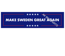 Make Sweden Great Again Car Sticker Trump 2016 US election