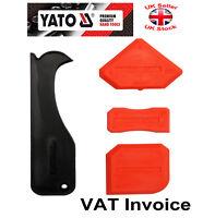 Yato Silicone Sealant Spreader Finishing Kit Tool + Caulk Remover 4 pcs YT-5262