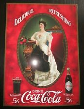 PLAQUE METAL SIGN COCA COLA drink DELICIOUS REFRESHING RETRO DESIGN 25X35cm