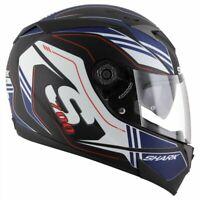 Shark S700-S Tika Matt KBW Motorcycle Motorbike Helmet Black Blue White