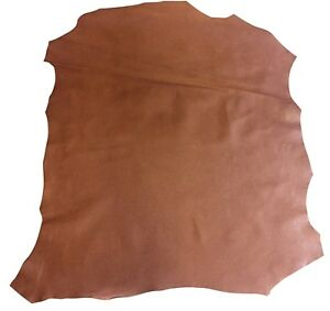 SALE Brown Genuine Leather Hide Goat Skin Textured Finish Craft DIY Material 722