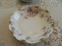 "Haviland & Co. Limoges Schl. #226C 7 1/2"" Coupe Soup Bowl Purple wGold Daubs 7-3"