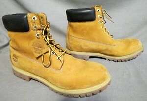 MENS TIMBERLAND TAN SUEDE HIKING FARM WORK BOOTS US SIZE 13 M