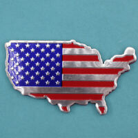 Universal Car Metal American Map Flag Sticker Emblem Badge Decal Fender label