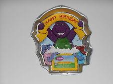 WILTON BARNEY BANNER BIRTHDAY DINOSAUR CAKE PAN MOLD TIN INSTRUCTIONS #2105-3450