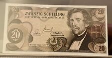 More details for austria zwanzig 20 schilling note 1967 issue unc uncirculated
