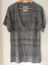 Ruehl  N925 Grey Sleeveless Jumper With Studs Size M