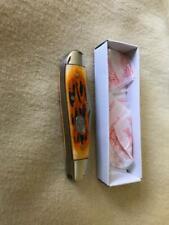 """Frost Cutlery, 2 7/8"""" Orange Bone Peanut Knife"""